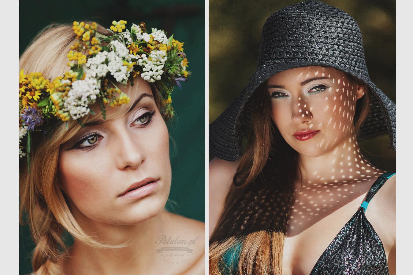 golden pixel studio, portretowa sesja zdjęciowa, zdjęcia w plenerze, słoneczna sesja, słowiańska uroda,   sesja z wiankiem, modelka w kapeluszu