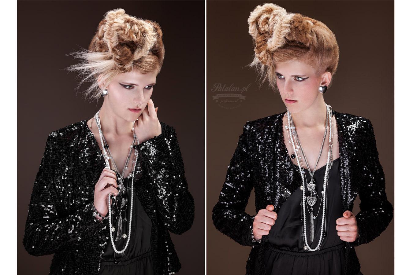golden pixel studio, zdjęcia fryzur, sesja z modelką, retusz skóry, piękna modelka,